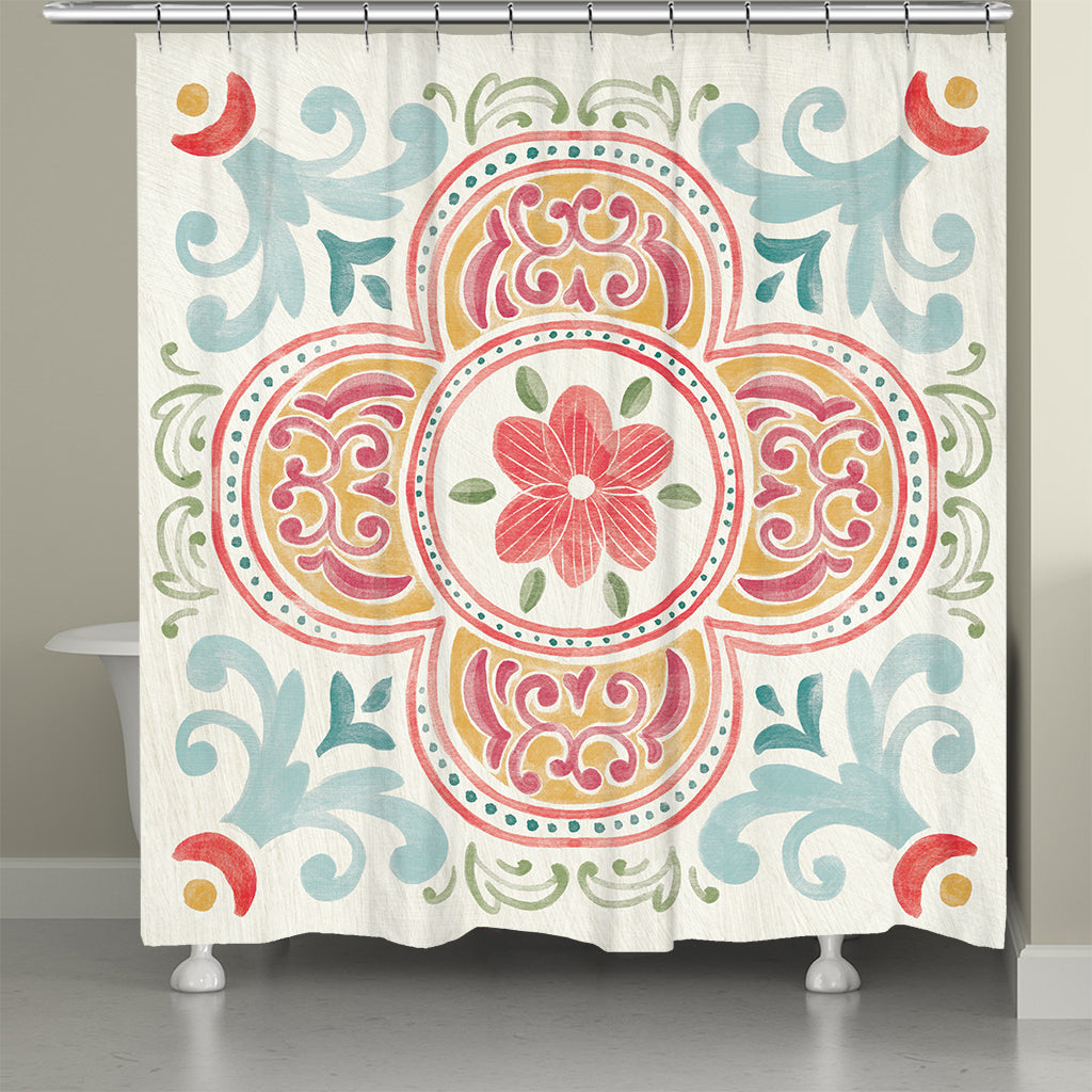 Spring Medallion Shower Curtain