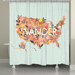 Spring Wanderlust Shower Curtain