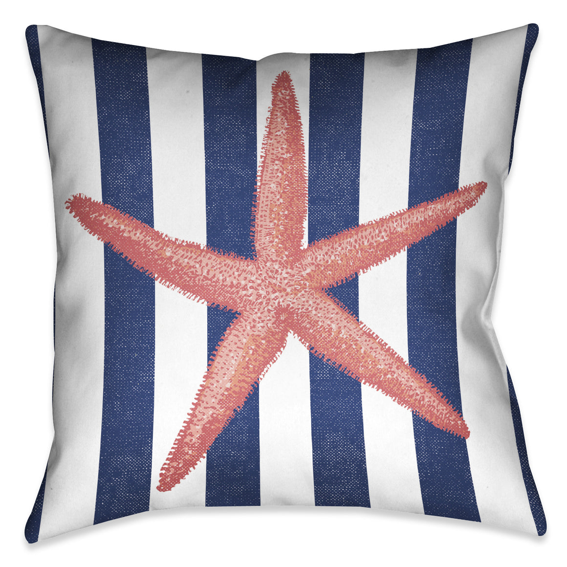 Starfish Stripe Outdoor Decorative Pillow