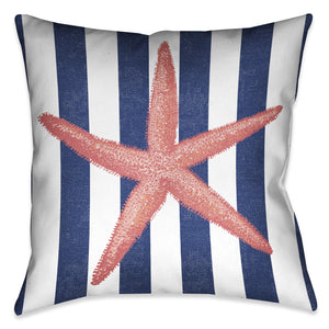 Starfish Stripe Indoor Decorative Pillow