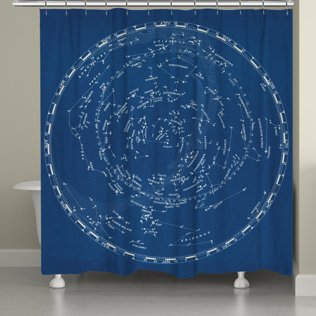 Stars and Constellation Chart Shower Curtain
