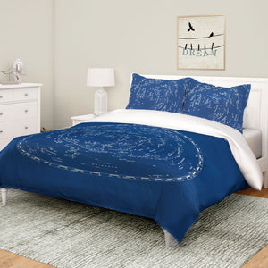 Stars and Constellations Chart Comforter