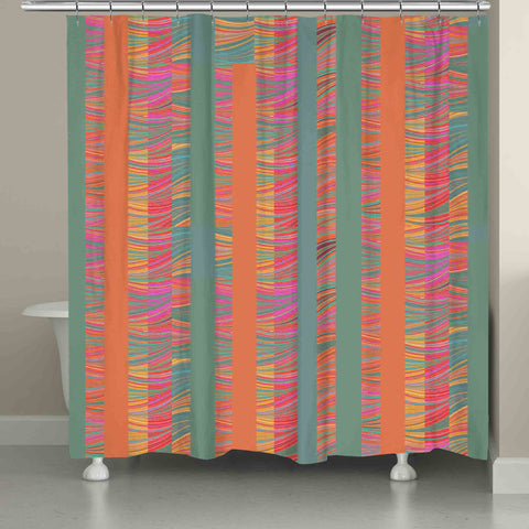 Multi-Color Stripe Shower Curtain