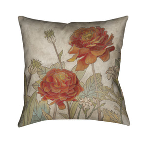 Sun Blooms II Outdoor Decorative Pillow