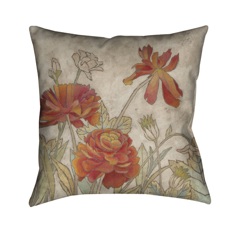 Sun Blooms I Outdoor Decorative Pillow