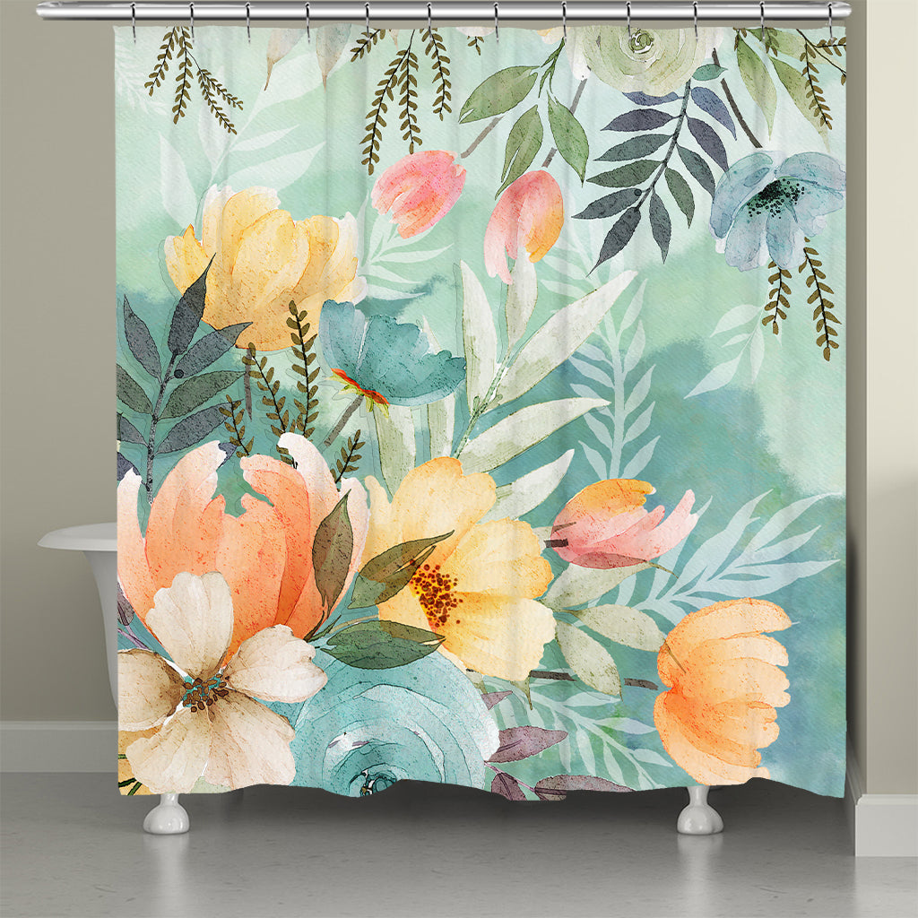 Tranquil Botanicals Shower Curtain
