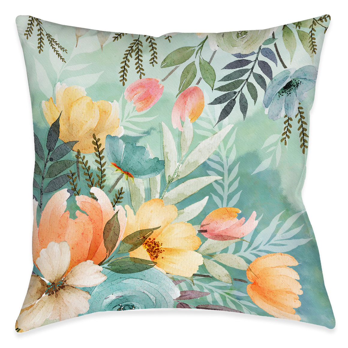 Tranquil Botanicals Outdoor Decorative Pillow