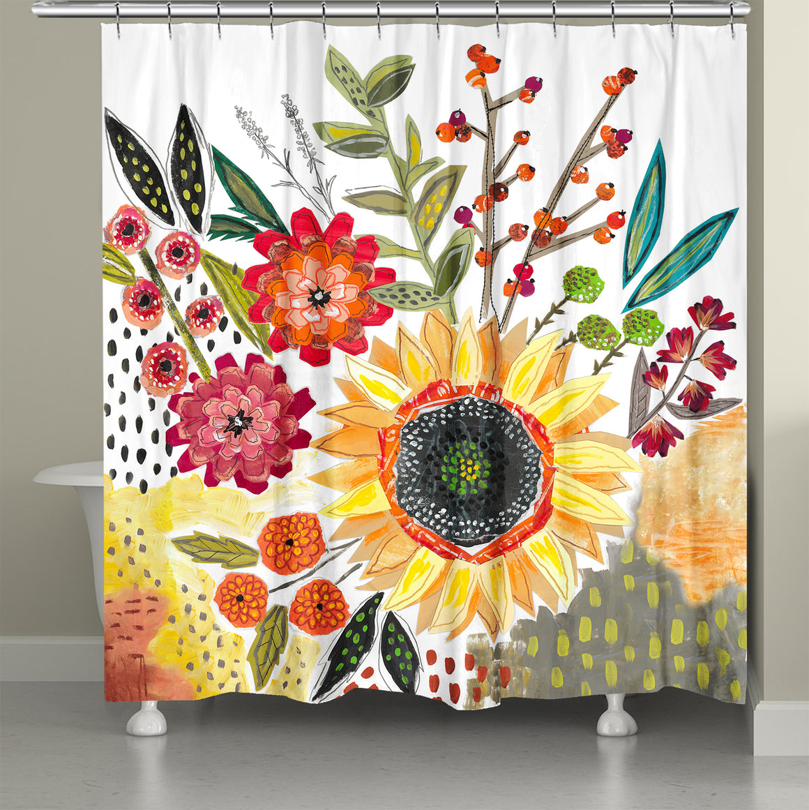 Sundaze Bloom Shower Curtain