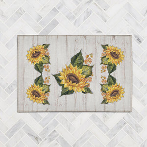 Sunflower on Shiplap Accent Rug