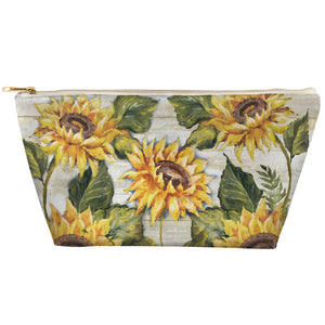 Sunflower on Shiplap Tapered Pouch