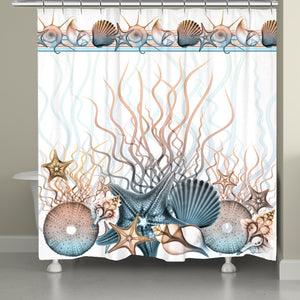 Sunset Seashells Shower Curtain