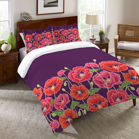 Sunshine Poppies Duvet Cover