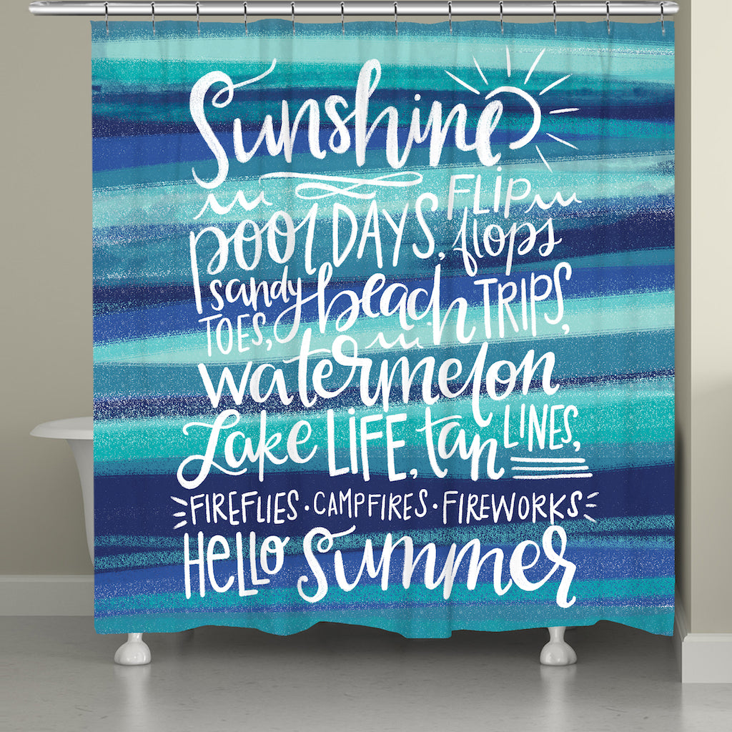 Sunshine Vibes Shower Curtain