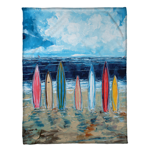 Surfboards Fleece Throw