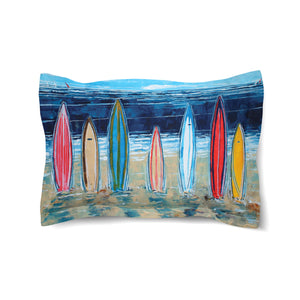 Surfboards Duvet Sham