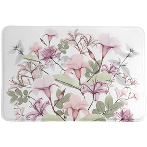 Sweet Blush Bouquet Memory Foam Rug