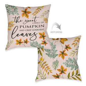 Sweet Chill Of Pumpkin Indoor Decorative Pillow