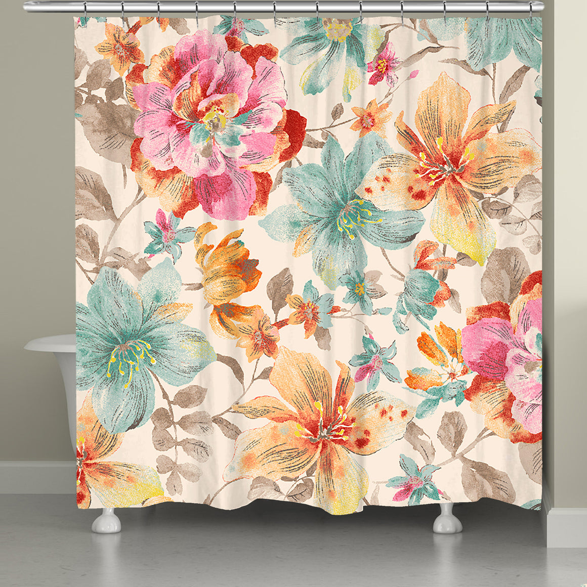 Sweet Warm Summer Lilies Shower Curtain