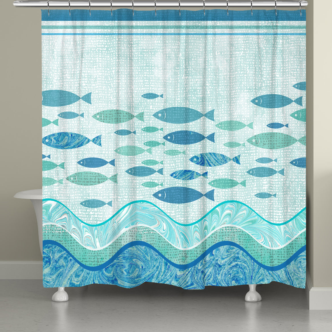 Swimming School Shower Curtain