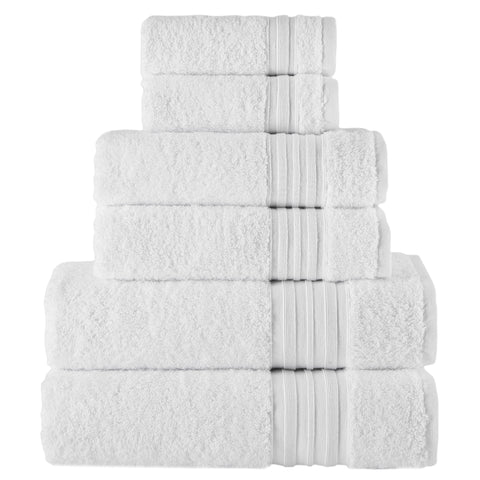 White Turkish Spa Collection 6-pc Cotton Towel Set