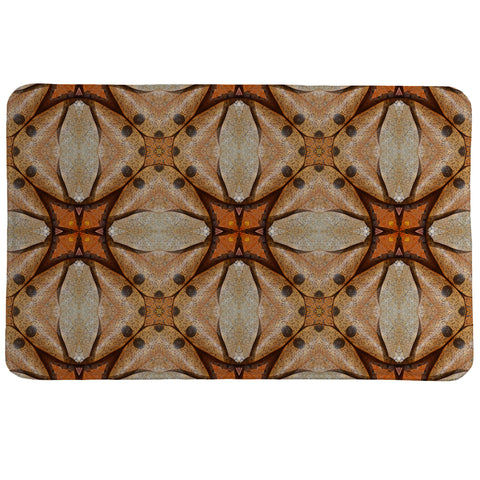 Terra Cotta Magnolia Leaves Memory Foam Rug