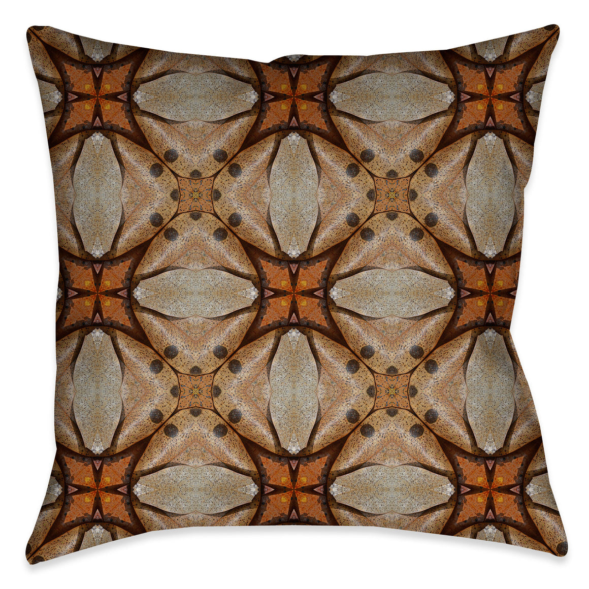 Terra Cotta Magnolia Leaves Indoor Decorative Pillow