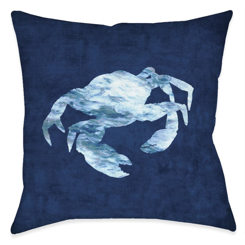 The Abyss Blue Crab Indoor Decorative Pillow