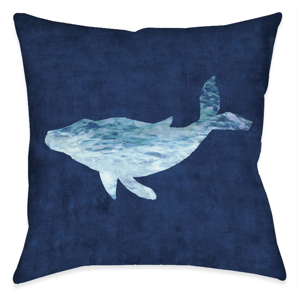 The Abyss Whale Outdoor Decorative Pillow