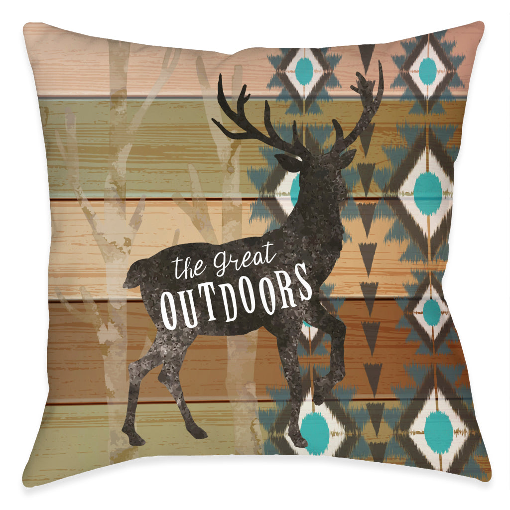 Rustic Outdoors Outdoor Decorative Pillow