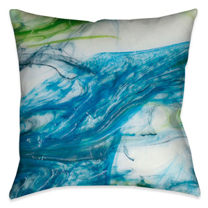 This modern tidal inspired design evokes beautiful artistic energy through fluid blue and green colors