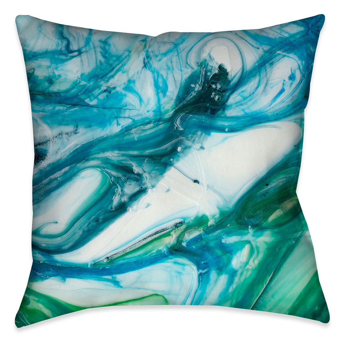 This modern tidal inspired design evokes beautiful artistic energy through fluid blues and greens.