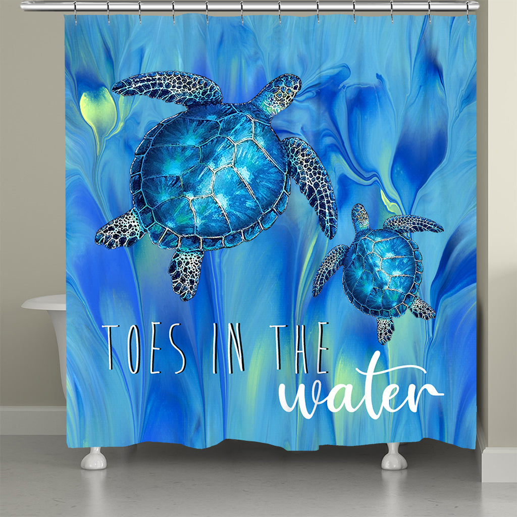 Toes In The Water Shower Curtain