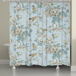 Toile Birds Shower Curtain