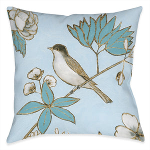 Toile Bird Outdoor Decorative Pillow