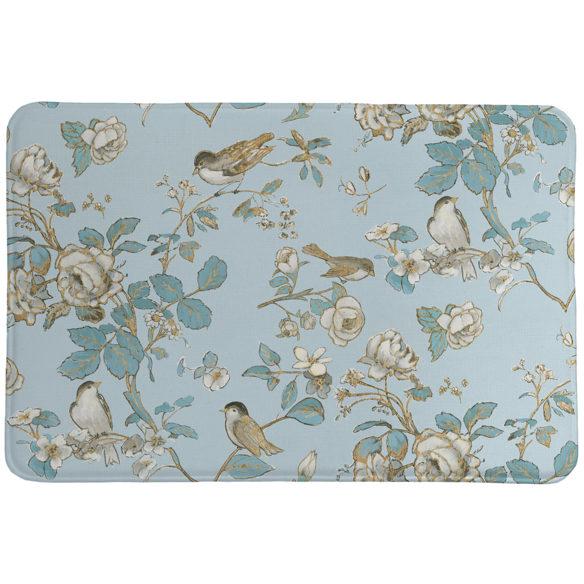 Toile Birds Foam Rug