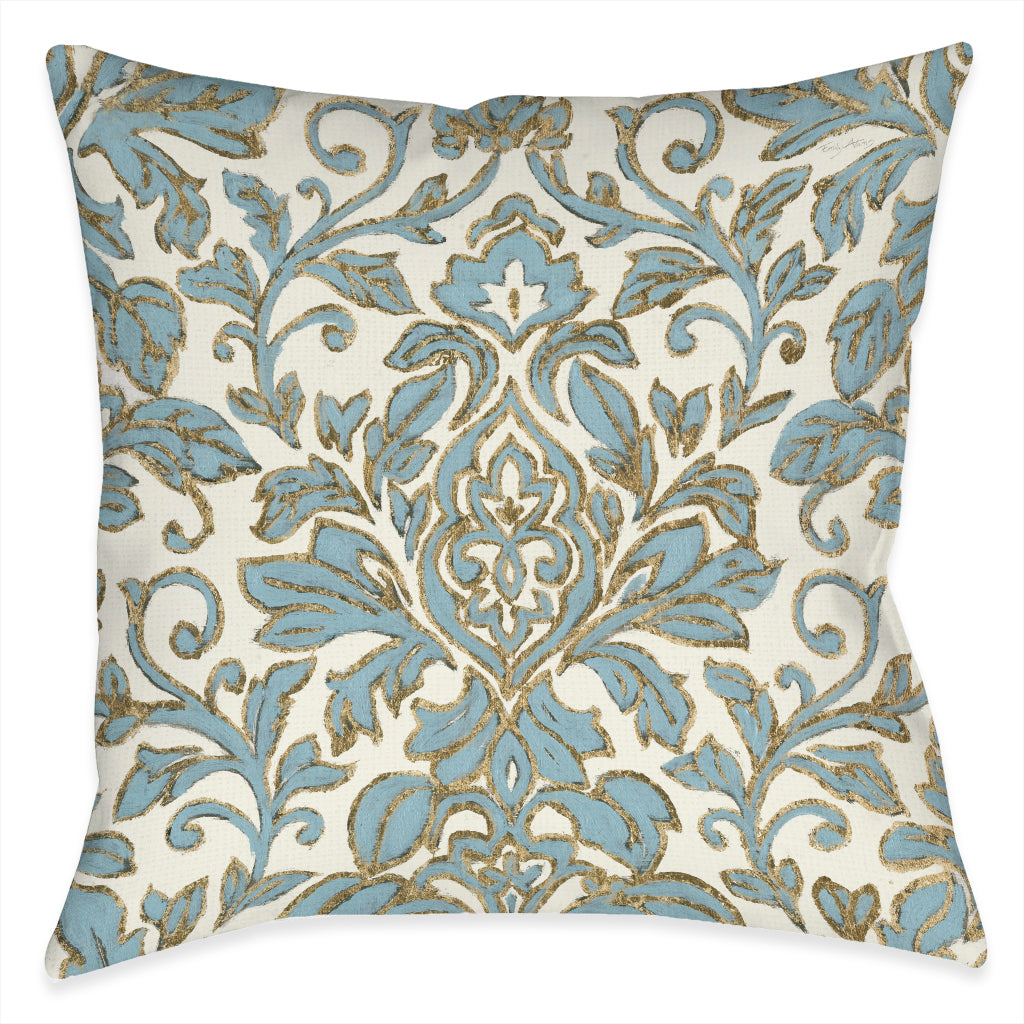 Antique Damask Indoor Decorative Pillow