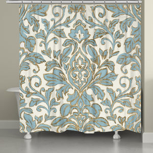 Antique Damask Shower Curtain