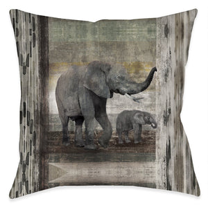Tribal Elephant Outdoor Decorative Pillow