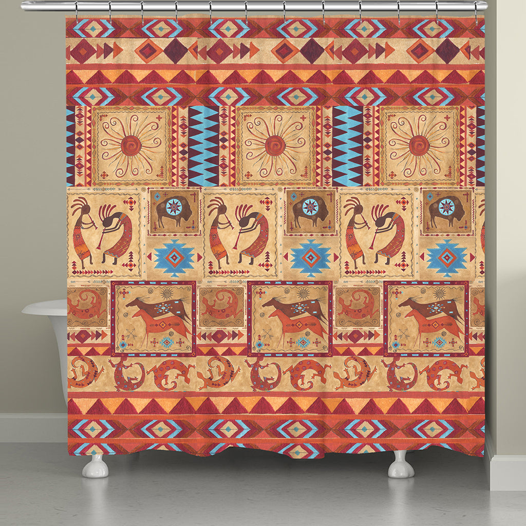 Tribal Song Shower Curtain