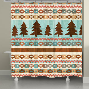 Tribal Trees Shower Curtain