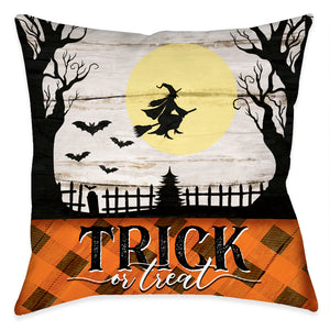 Trick or Treat Outdoor Decorative Pillow