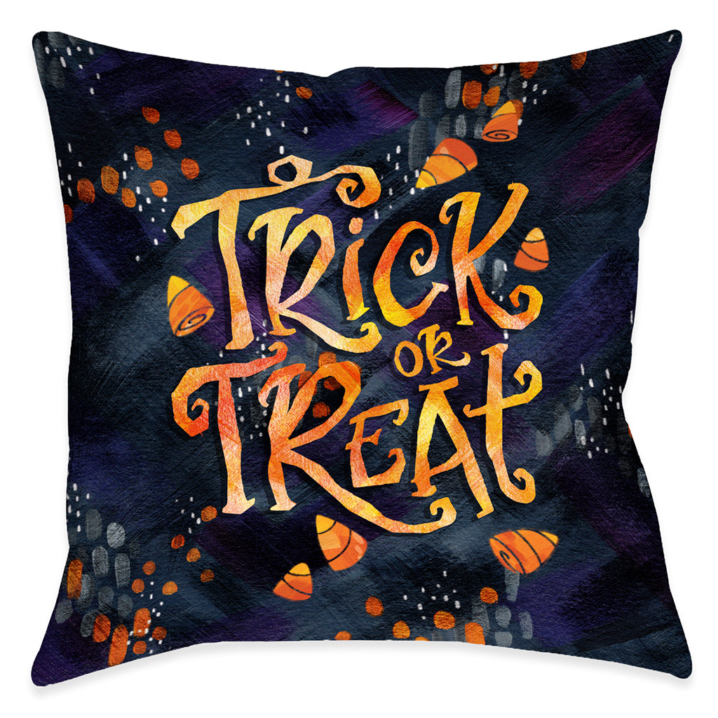 Candy Corn Treat Outdoor Decorative Pillow