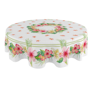 Tropical Island Round Tablecloth