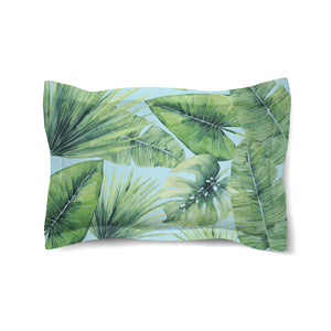 Tropical Palm Tree Leaves Duvet Sham