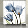 Blue Tulip Trio X-Ray Flowers Shower Curtain