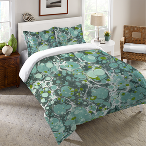 Turquoise Marble Duvet Cover