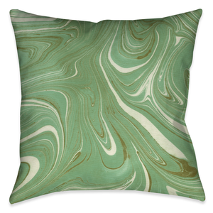 Green Marble Outdoor Decorative Pillow