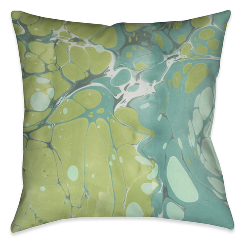 Turquoise Marble II Outdoor Decorative Pillow