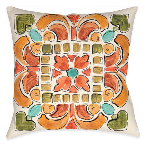 Tuscan Tile III Outdoor Decorative Pillow