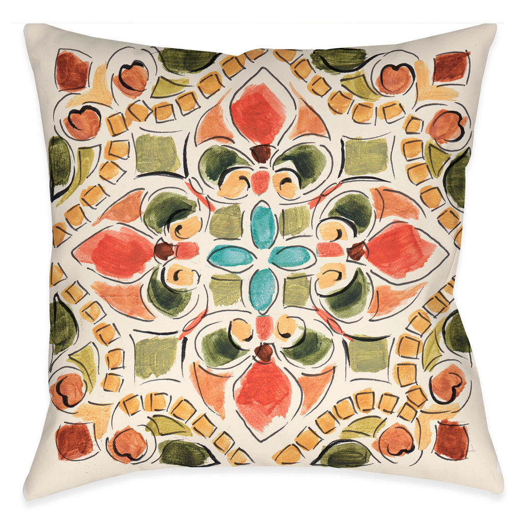 Tuscan Tile II Indoor Decorative Pillow